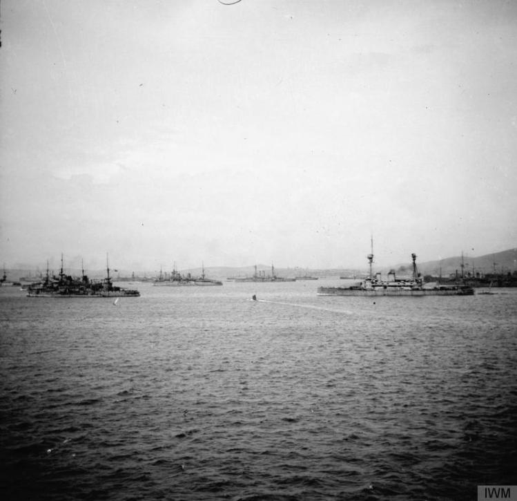 Allied ships in Mudros Harbour, 1915 © IWM (Q 57753)