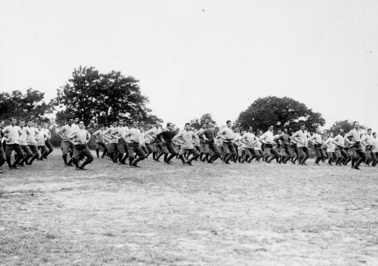 311 London Regiment (Finsbury Rifles); physical training, October 1915