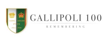 GALLIPOLI 100 GREY with shield logo