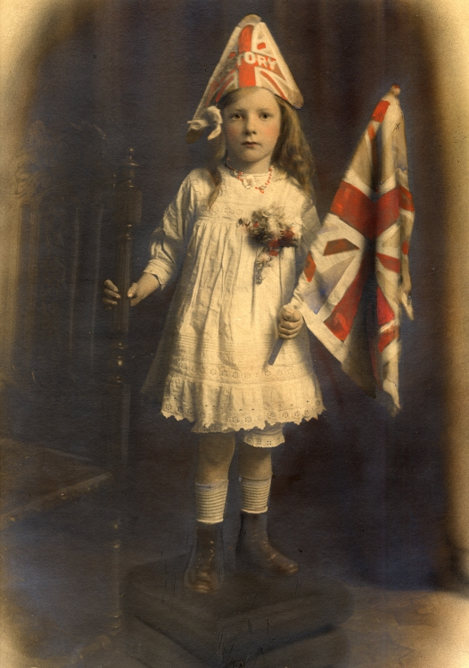 Evelyn Hilda Hutchings aged 5 yrs 'Victory' (1918)