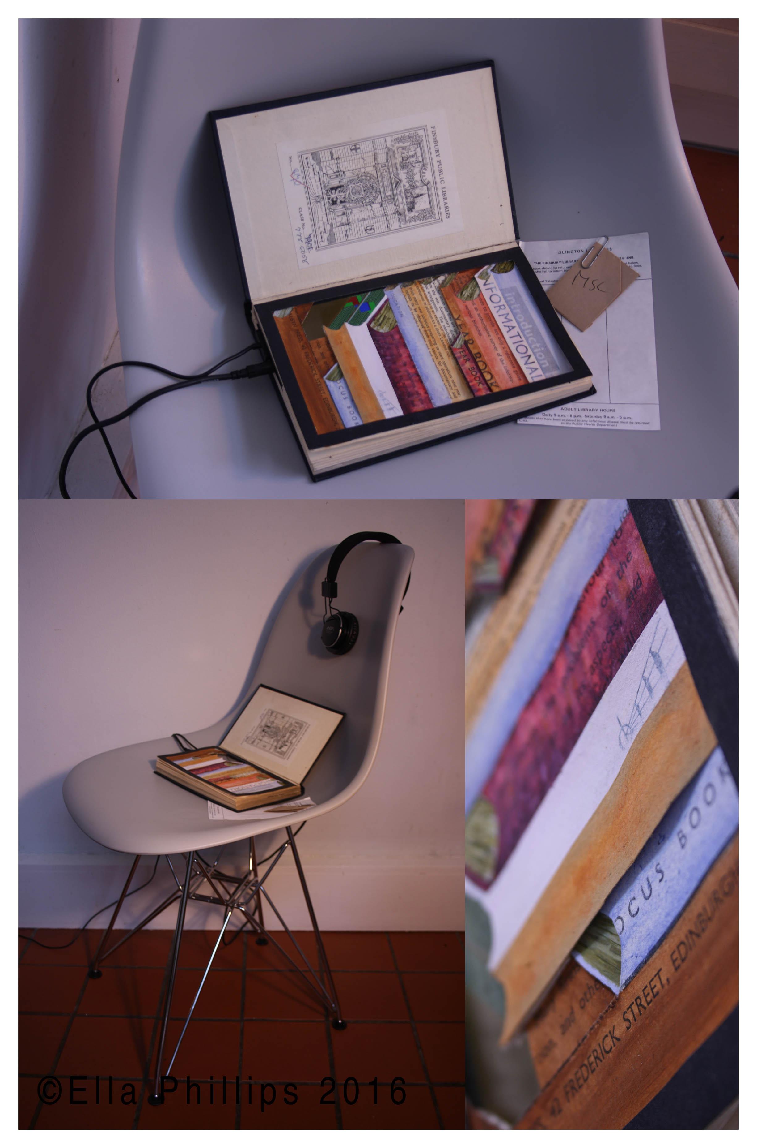 Ella Phillips_While Reading, video installation, 2016