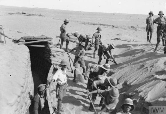 IWM Suez Canal Defences repairing a trench