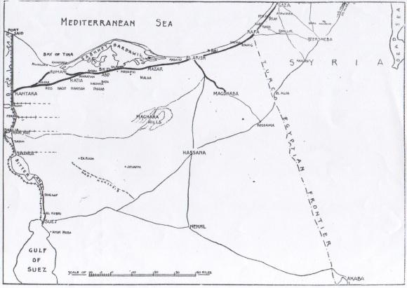 MAP Crossing Sinai Desert