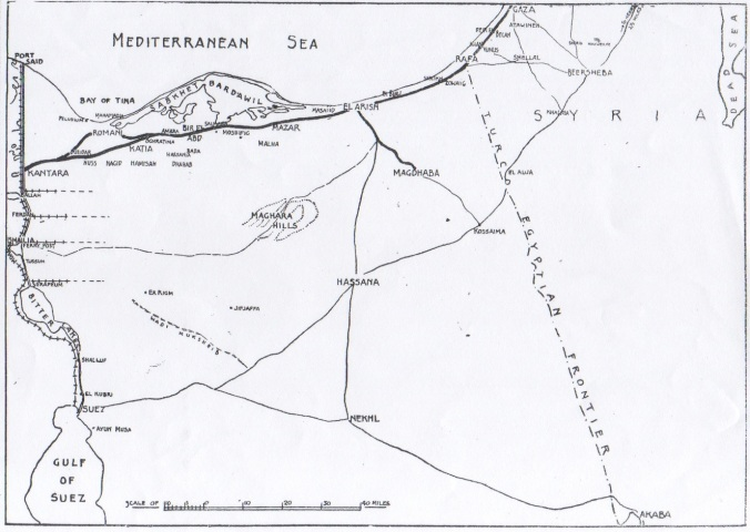 MAP Crossing Sinai Desert