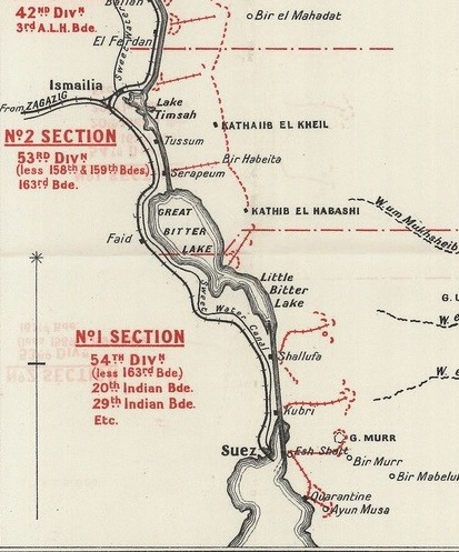 Suez Canal Defences July 1916 via Great War Forum