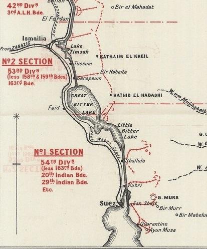 Suez Canal Defences July 1916 via Great War Forum