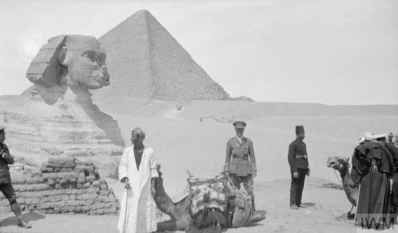 Q57786 Lt col SC Byrne at the Sphinx March 1917