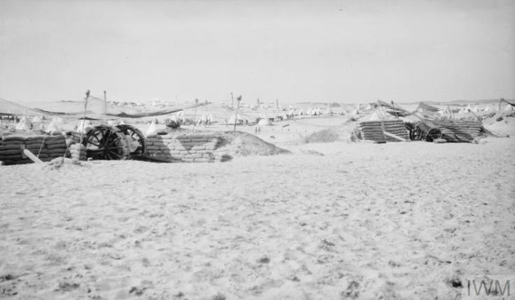 Q57789 camouflaged gun emplacements outside El Arish