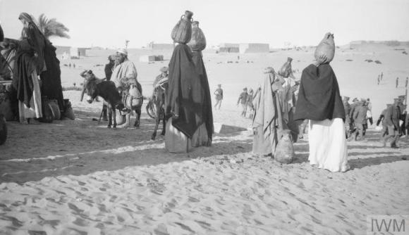 Q57825 Women drawing water from well at El Arish