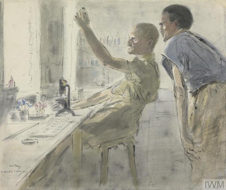 IWM ART2939 bacteriologist inspectin test tube James McBey