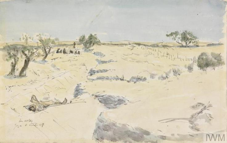 Trenches before Gaza James mc Bey