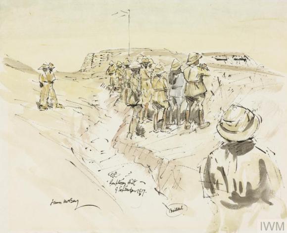 Gen Allenby watching bombardment Gaza 1704