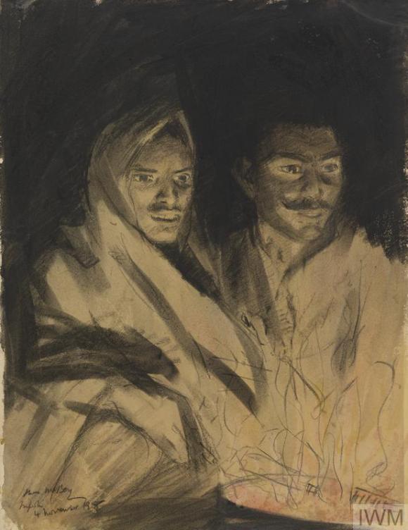 Punjabis at a camp fire Mcbey1595