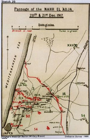 Sketch map of the Nahr el-Auja