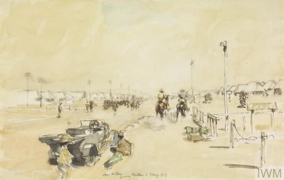 IWM ART 1699 Kantara Camp James McBey