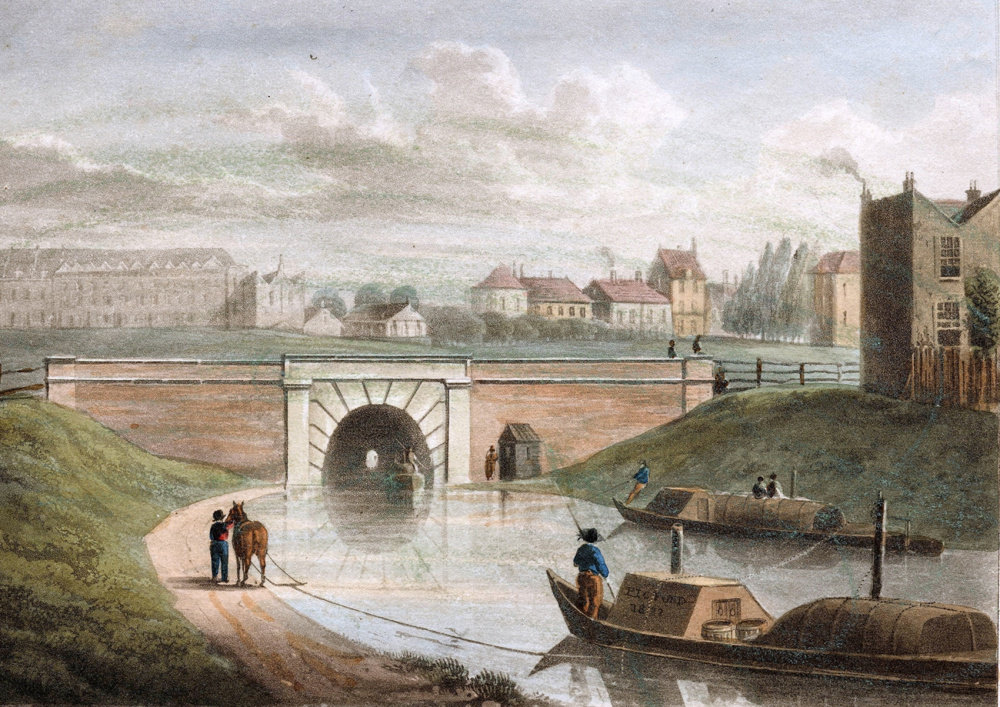 image 01 western end battlebridge of the islington tunnel 1822 1 - Regent's Canal 200th