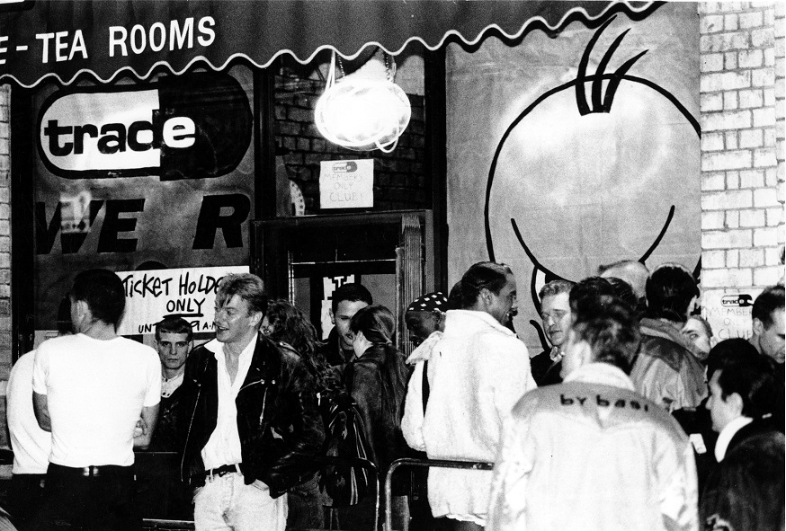 02. Entrance to Trade nightclub at Turnmills, 63b Clerkenwell Road, early 1990s WP