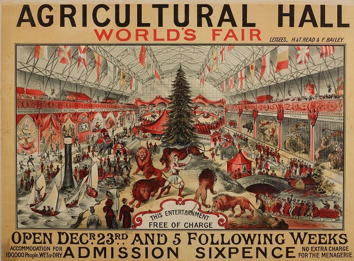 Agricultural Hall World's Fair poster Website poster