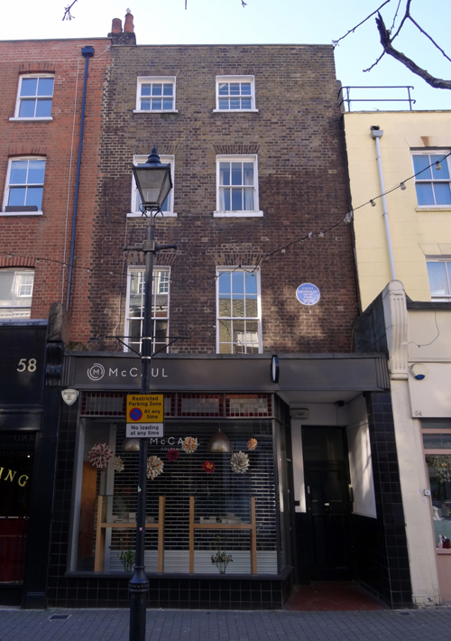 Grimaldi's residence at 56 Exmouth Street 2018