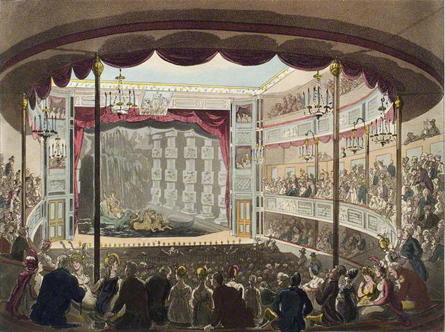 Sadler's Wells aquatic theatre, 1809. (Islington Local History Centre)