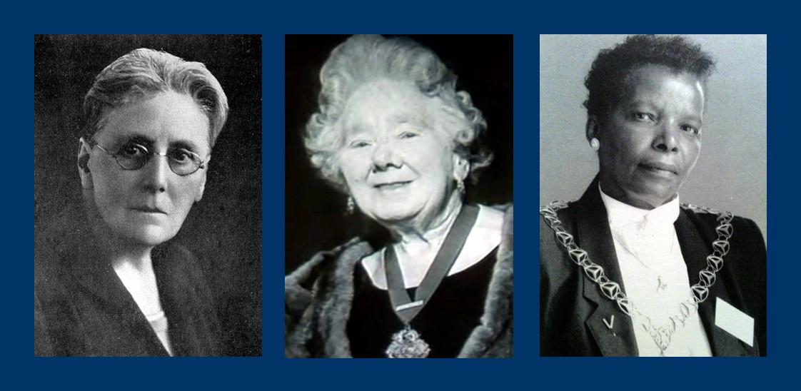 Ethel Bentham, Catherine Griffiths and Valda James