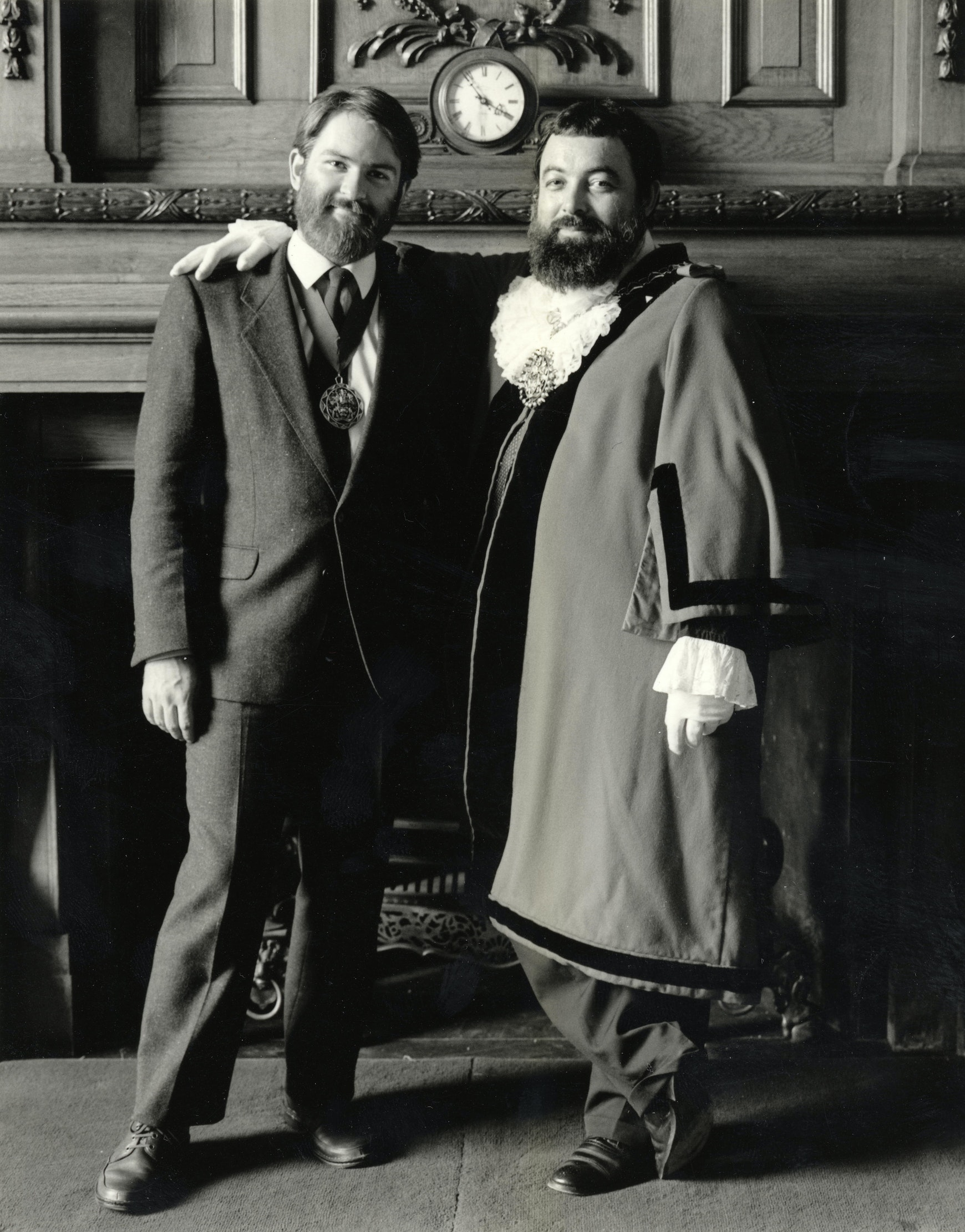 """Bob Crossman (right) pictured with his """"consort"""" Martin McCloghry"""